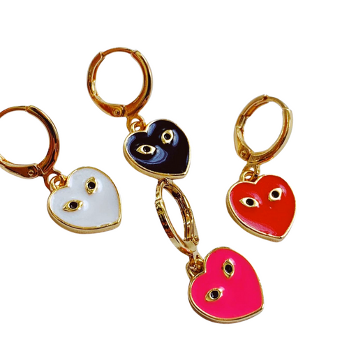 Set of 4 Mini Eye Heart You