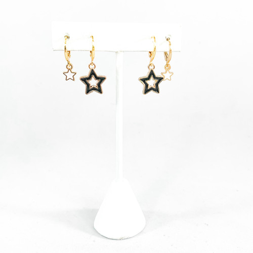 White Baby Stars with Black Open Starboys Rockstar Stack