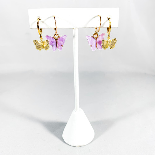 Mini Gold Butterflies with Lilac Pearly Butterflies