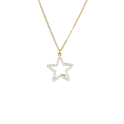 Dainty Cable Chain with Pearl Star Charm