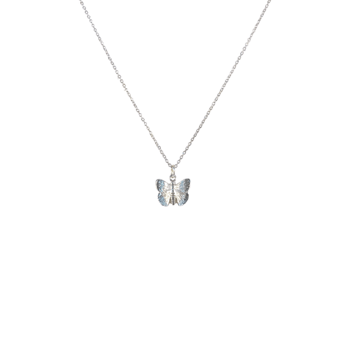 Dainty Chain with Silver Mini Butterfly Charm