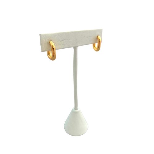 14 K Gold Filled Rectangle Hoops on Stand