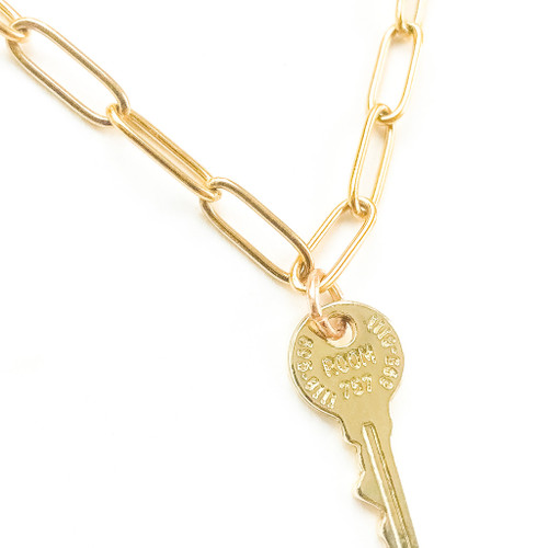 Key to my Heart Link Necklace