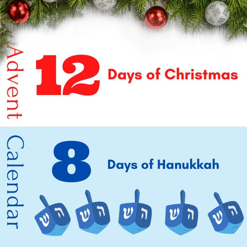 12 Days of Christmas and 8 Days of Hanukkah Advent Calendar
