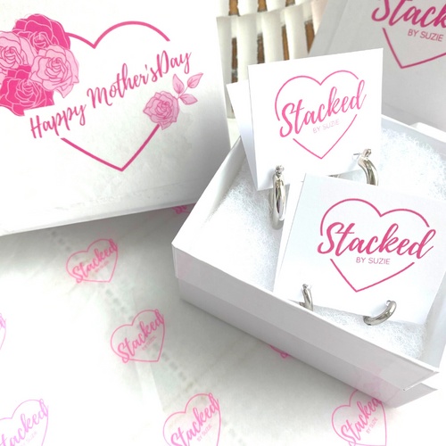 Happy Mother's Day Box in Silver