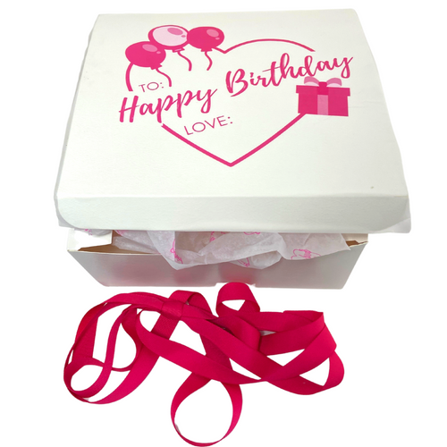 BIRTHDAY CELEBRATION  - $100 OR BIRTHDAY DELUXE - $150 - INCLUDES ONE-ON-ONE PERSONAL VIDEO SHOPPING TO WORK WITH YOU TO SELECT A UNIQUE COMBINATION OF STACKED BY SUZIE EARRINGS, NECKLACES, BRACELETS AND RINGS. - BEAUTIFULLY PACKAGED IN WHITE BOX WITH PINK LETTERING PERSONAL NOTE FROM YOU OR HAPPY BIRTHDAY MESSAGE - SENT VIA USPS PRIORITY MAIL (1 - 3 BUSINESS DAYS) WITH TRACKING