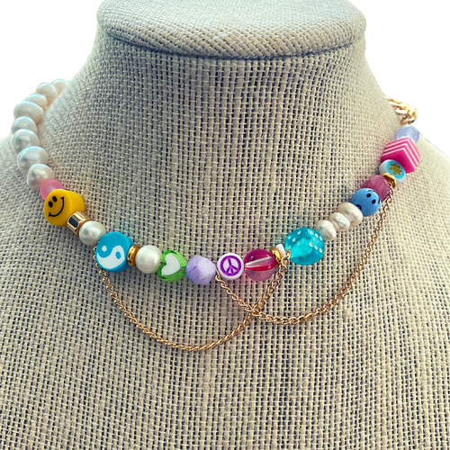 Just Wanna Have Fun Necklaces in Sorbet on Stand