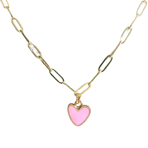 Pink Statement Heart Necklace