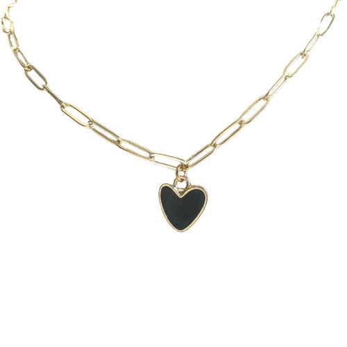Black Statement Heart Necklace