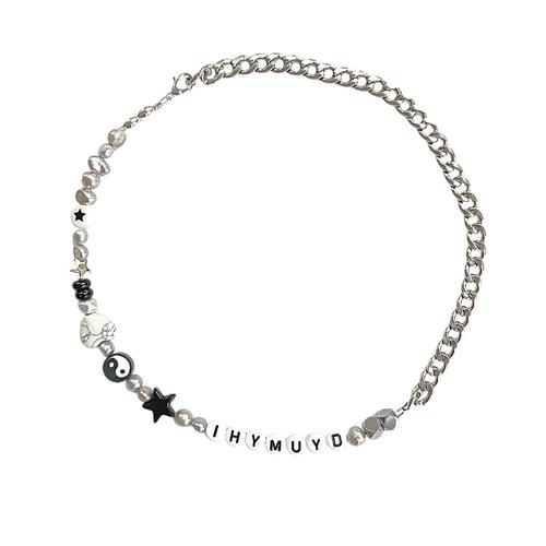 IHYMUYD Necklace Silver
