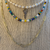 Simple Chain Link Necklace, Rainbow Choker, and Key to My Heart Pearl Necklace