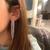 Wearing Glitzy Tassel Fringe Earrings in Silver