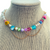 Just Wanna Have Fun Necklace in Sorbet on Stand