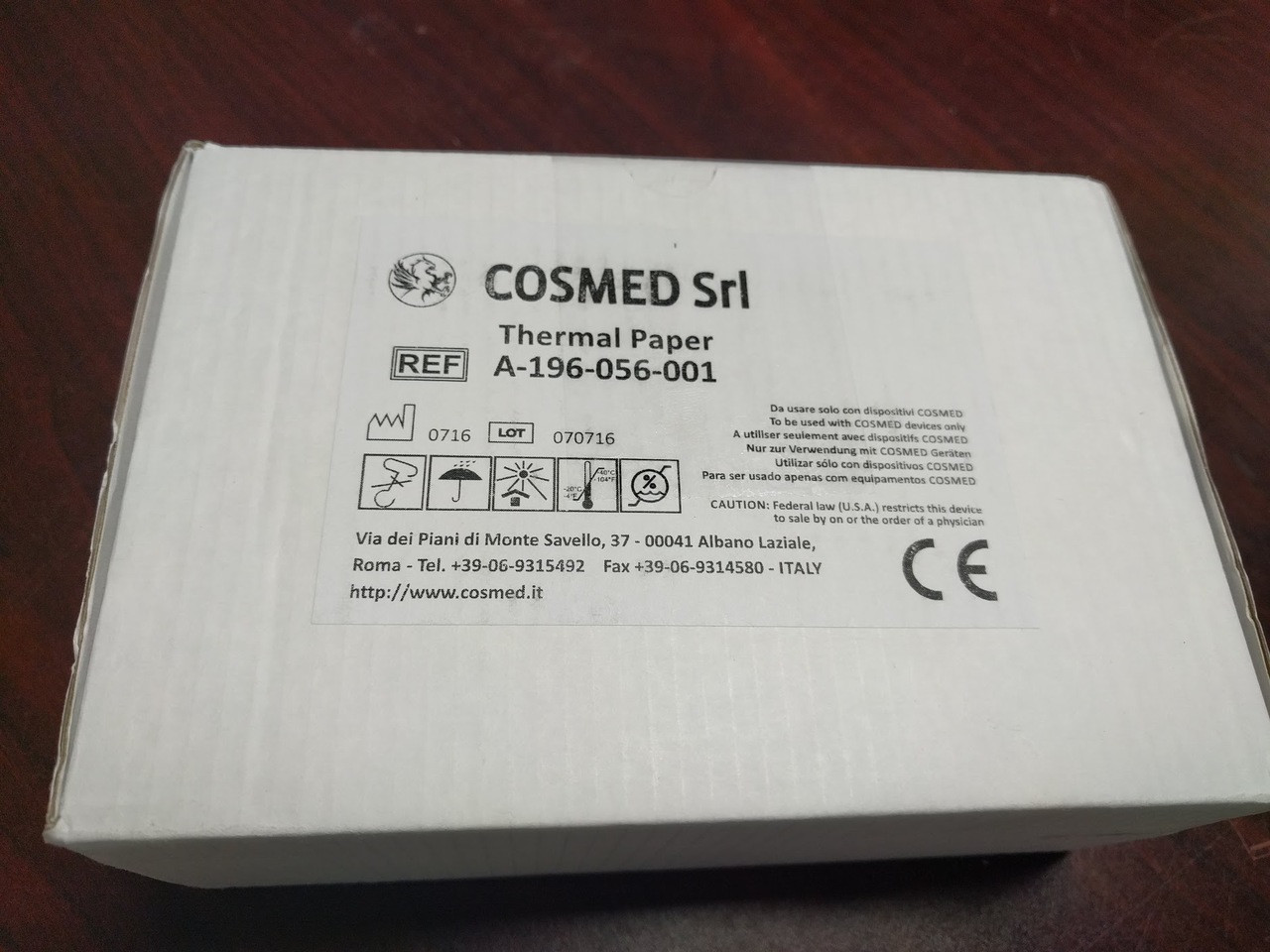 Cosmed Thermal Paper Ref. A-196-056-001