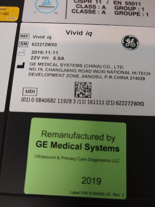 GE Vivid IQ Premium R2