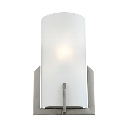 Wall Lights By Elk Cornerstone 1 Light Wall Sconce In Brushed Nickel 7.5x12 5111WS/20