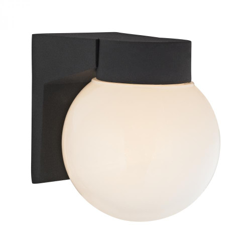Outdoor Lights By Elk Cornerstone 1 Light Outdoor Wall Sconce In Matt Black 6x7 9201EW/65