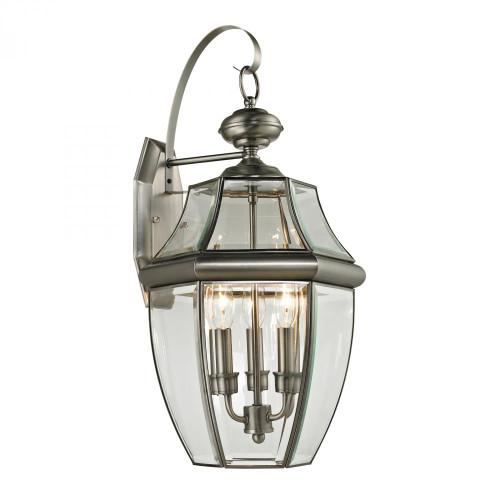 Outdoor Lights By Elk Cornerstone Ashford 3 Light Exterior Coach Lantern In Antique 13x23 8603EW/80