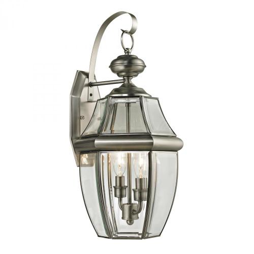 Outdoor Lights By Elk Cornerstone Ashford 2 Light Exterior Coach Lantern In Antique 10x21 8602EW/80