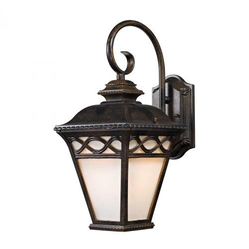 Outdoor Lights By Elk Cornerstone Mendham 1 Light Coach Lantern  In Hazelnut Bronze 7.5x16 8551EW/70