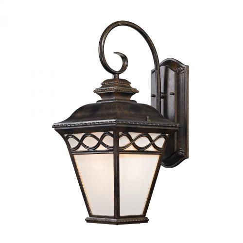 Outdoor Lights By Elk Cornerstone Mendham 1 Light Coach Lantern  In Hazelnut Bronze 9x19.25 8561EW/70