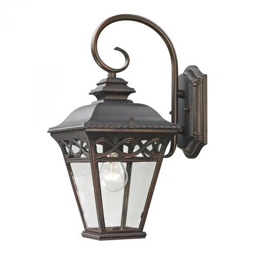 Outdoor Lights By Elk Cornerstone Mendham 1 Light Exterior Coach Lantern In Hazel 7.5x16 8501EW/70