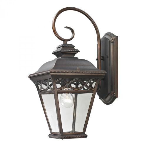 Outdoor Lights By Elk Cornerstone Mendham 1 Light Exterior Coach Lantern In Hazel 9x19.25 8511EW/70