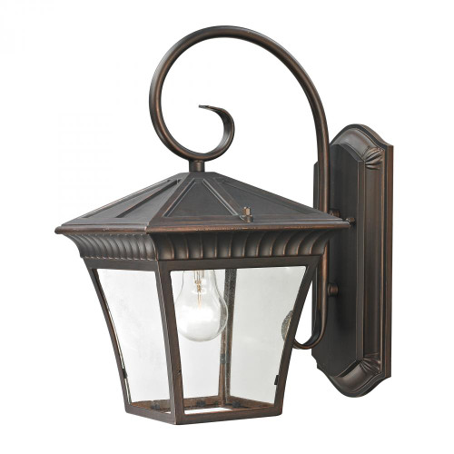 Outdoor Lights By Elk Cornerstone Ridgewood 1 Light Exterior Coach Lantern In Haze 9x15.25 8411EW/70