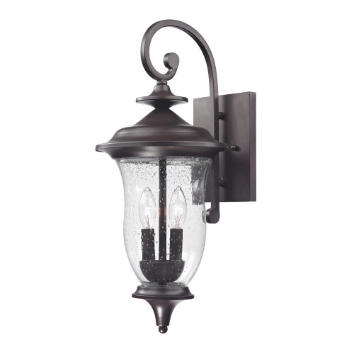 Outdoor Lights By Elk Cornerstone Trinity Coach Lantern In Oil Rubbed Bronze 9x22 8002EW/75