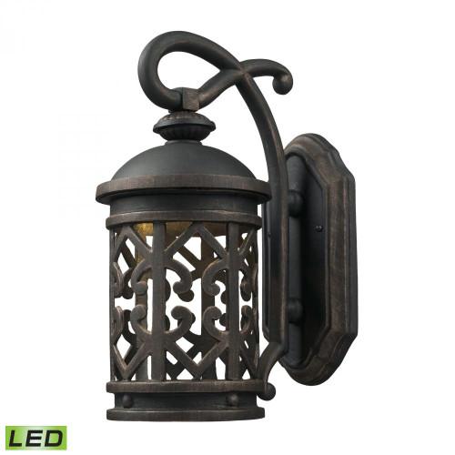 Outdoor Lights By Elk Cornerstone Tuscany Coast - LED 1 Light Exterior Wall Mount 7x14 7201EW/71-LED