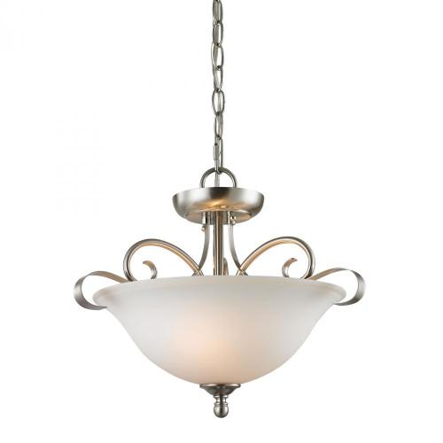 Chandeliers/Pendant Lights By Elk Cornerstone Brighton 2 Light Convertible In Oil Rubbed Bronze 1002CS/20