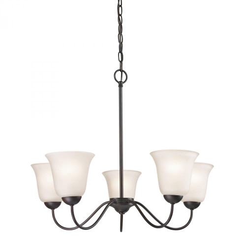 Chandeliers By Elk Cornerstone Conway 5 Light Chandelier In Oil Rubbed Bronze 1255CH/10