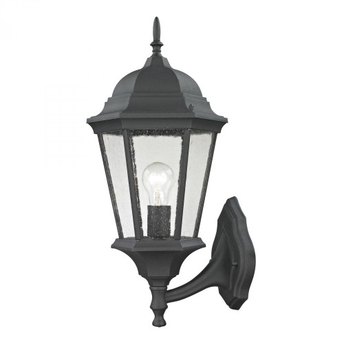 Outdoor Lights By Elk Cornerstone Temple Hill Coach Lantern In Matte Textured Black 9.5x20.5 8111EW/65