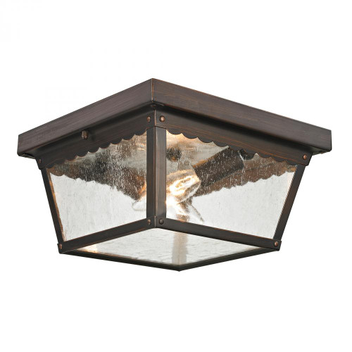 Outdoor Lights By Elk Cornerstone Springfield 2 Light Exterior Flush Mount In Haze 10x5.5 9002EF/70