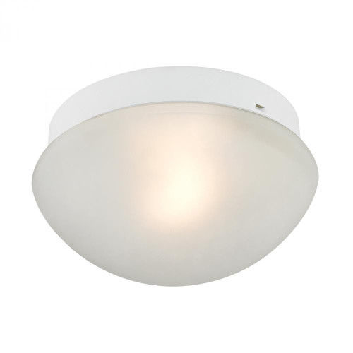 Ceiling Lights By Elk Cornerstone 1 Light Mushroom Flushmount In White 7351FM/40