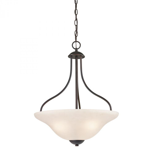 Chandeliers/Pendant Lights By Elk Cornerstone Conway 3 Light Large Pendant In Oil Rubbed Bronze 1253PL/10