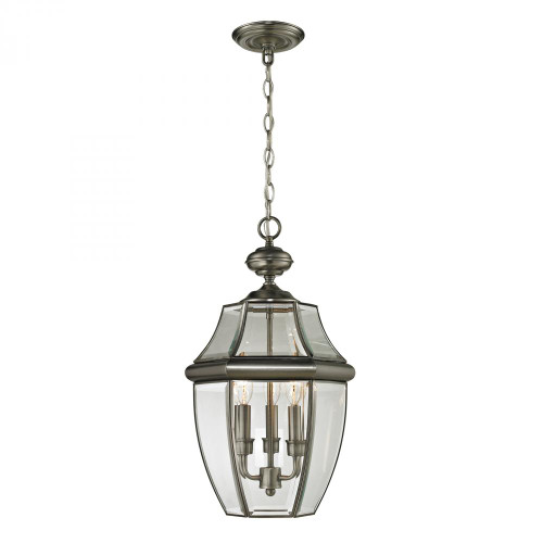 Outdoor Lights By Elk Cornerstone Ashford 3 Light Exterior Hanging Lantern In Anti 12x21 8603EH/80