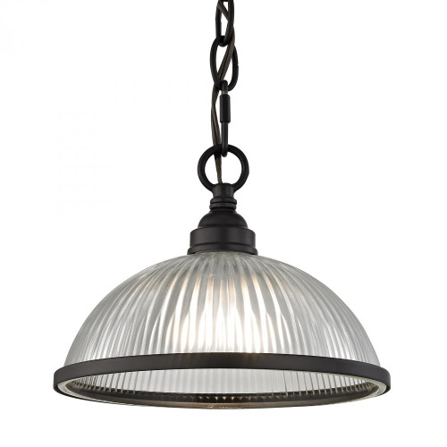 Chandeliers/Pendant Lights By Elk Cornerstone Liberty Park 1 Light Pendant In Oil Rubbed Bronze 8.75x6.5 7661PS/10