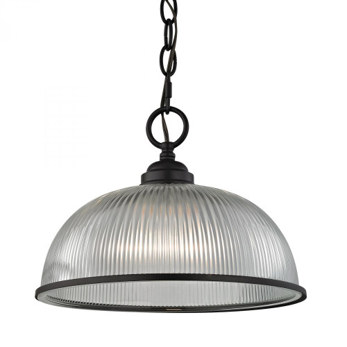 Chandeliers/Pendant Lights By Elk Cornerstone Liberty Park 1 Light Pendant In Oil Rubbed Bronze 12x9 7681PL/10
