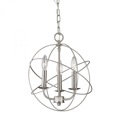 Chandeliers/Mini Chandeliers By Elk Cornerstone Williamsport 3 Light Chandelier In Brushed Nickel 13x15 1513CH/20