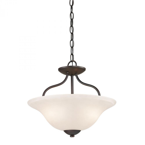 Ceiling Lights By Elk Cornerstone Conway 2 Light Semi-Flush In Oil Rubbed Bronze 1252CS/10