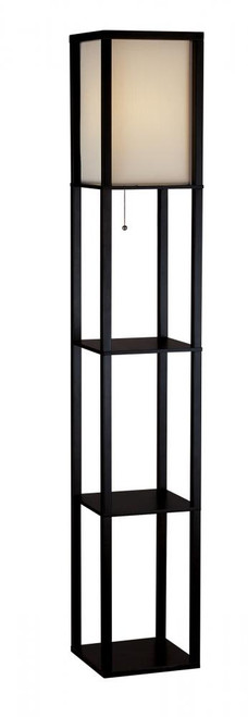 Lamps By Adesso Wright Shelf Floor Lamp 3138-01