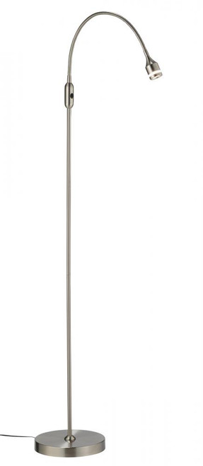 Lamps By Adesso Prospect LED Floor Lamp in Silver 3219-22