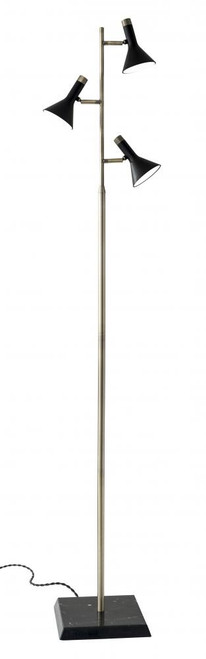 Lamps By Adesso Bennett LED Tree Lamp in Brass 3289-01