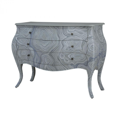 Brands/Guild Masters By Guild Masters Bombay Chest In Grain De Bois Griege With Hand Painted Wood Grain Art 6415520