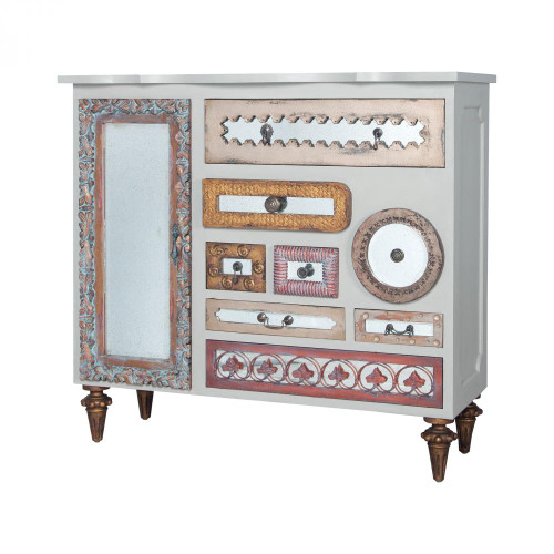 Brands/Guild Masters By Guild Masters Wood Mirror Mosaic Chest 645067M6-1