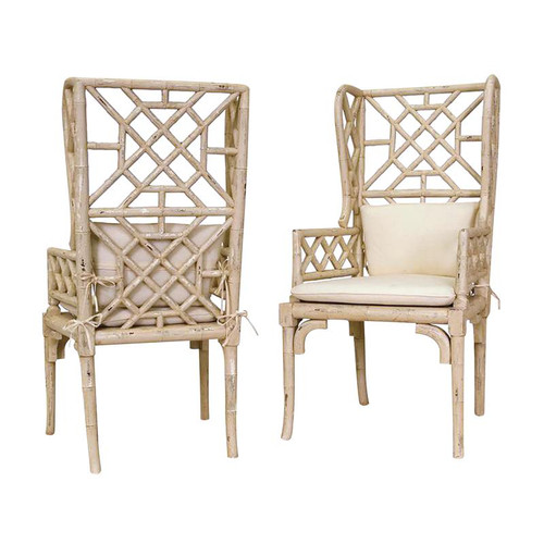 Brands/Guild Masters By Guild Masters Cream Bamboo Wing Back Chair 657530PCR