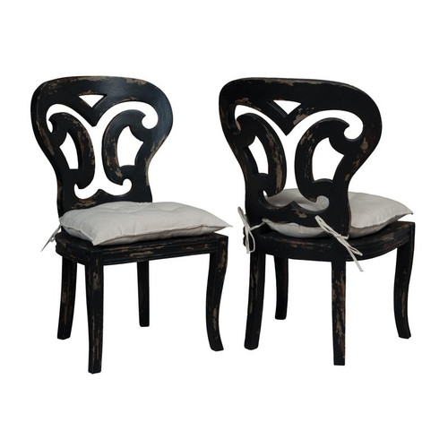 Brands/Guild Masters By Guild Masters Artifacts Side Chairs In Vintage Noir - Set of 2 694509P