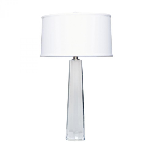 Lamps By Lamp Works Crystal Faceted Column Table Lamp 729