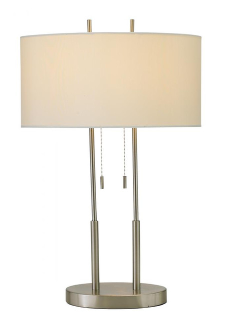Lamps By Adesso Duet Table Lamp in Silver 4015-22